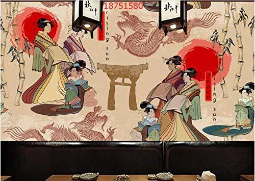 Estilo japonés Antiguo japonés Kimono Real Mujer