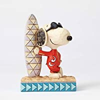 Peanuts de Jim Shore Joe Cool Snoopy con tabla de surf