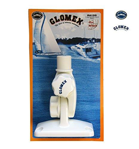 Glomex RA135 4-Wege-Kippfuß aus Nylon 4-Wege-Kippfuß mit Knopf zum Verstellen RA-135 für Antennen, GPS Empfänger mit 1