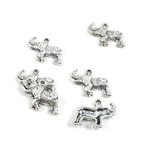 Abalorios de plata envejecida de 720 piezas P2GB0C para manualidades con elefantes