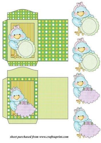 Feuille A4 pour confection de carte de vœux - 2 Tiny tweets special messages seed packets 2 par Sharon Poore