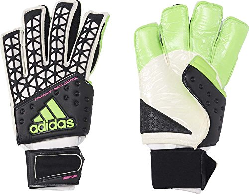 adidas Herren Torwarthandschuhe ACE Ultimate, Black/White/Solar Green/Shock Pink S16, 7