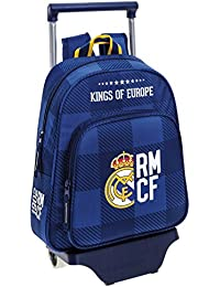 Safta Real Madrid Mochila Escolar, 34 cm, Azul