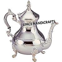 Lujo Original latón marroquí plata cromado tetera café teteras utensilios para jarra martillado a mano 850