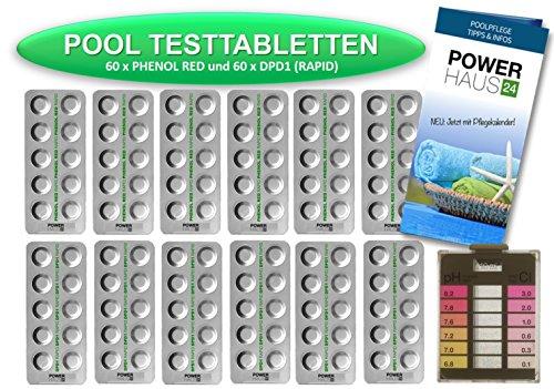 powerhaus24-120-testtabletten-60-x-ph-wert-phenol-red-und-60-x-dpd1-chlor-inkl-messkammer