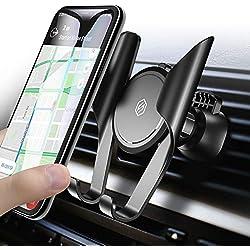 Support Téléphone Voiture Ventilation, Seiaol Universal Mémoire Auto à Grille d'aération Voiture avec Rotation 360°Réglable pour iPhone x/iPhone 8/7/7 Plus/6S/6 Plus 5S SE,Galaxy S8/S7/S6 Edge/S6 Etc.