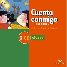 Cuenta Conmigo : Espagnol 3e LV2, 1ère LV3 (coffret 2 CD pour la classe)