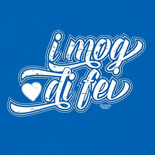 Valentinstag-Romantische-Geschenkidee-T-Shirt-Männer I mog di fei Farbe: royal-blau Royal-Blau