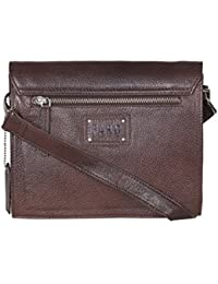 Faro 100% Genuine Leather Sling Bag For Women & Girls (Brown)