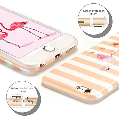 Cover iPhone 6 Case iPhone 6S Custodia Spiritsun Moda Soft TPU Case Christmas Kawaii Cover High Quality Scintillante Luminoso Case Elegante Souple Flessibile Liscio Copertura Perfetta Protezione Shell Strisce Rosa