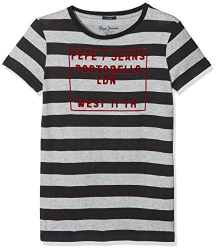 Pepe Jeans Jungen T-Shirt Jam Teen, Grau (Lt Grey Marl), X-Small