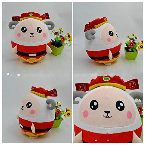 qianxi Weihnachten Plüschtier Schaf Figur Gott des