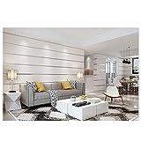 KBB Tapeten-Moderne minimalistische 3D Stereo Beflockung Entwurf horizontalen und vertikalen Streifen Marmortapete Non-Woven für Wohnzimmer Schlafzimmer 0.53M * 10M,E