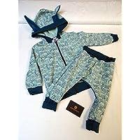 Ensemble bébé hiver motif lapin, idée cadeau de naissance