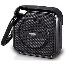 TDK A12 Trek - Micro altavoz Bluetooth, portátil con tecnología NFC, a prueba de agua y con mosquetón, negro