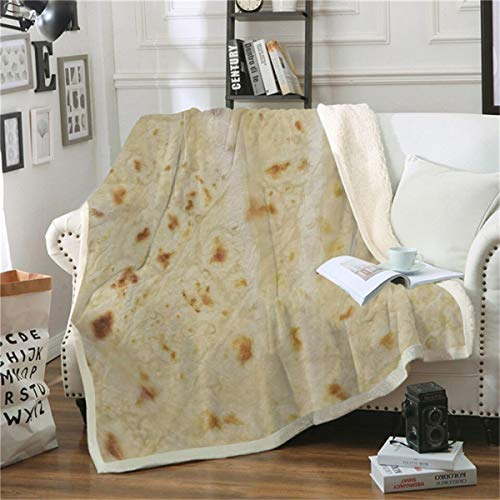 HAOTTP Kuscheldecke Ist Super Weiche Burrito Tortill 3D Ted Velve Plüsch Werfen TagesKuscheldecke Für Kid Sherpa Reise Couch Quilt 100X140Cm -