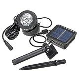 Solar LED-Strahler - SODIAL(R) Wasserdicht 6 LEDs Solar LED-Strahler Licht-Lampe Aussenleuchte fuer Tauchen Led Outdoor Garden Pond Pool Spot-Lampen
