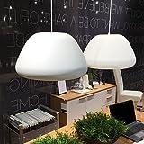 lounge-zone Design Pendelleuchte Hängeleuchte Leuchte Pendellampe Hängelampe Lampe MONTEM Bauhaus Modern Schirm matt weiß Φ 45cm 13071