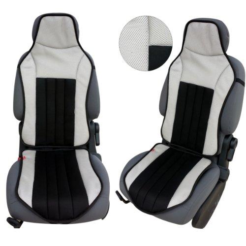 CSC104 - coussin de siège voiture, housse de siège auto Protecteur de siège, coussin cover auto Couvre Siège voiture, Retour Coussin gris/noir