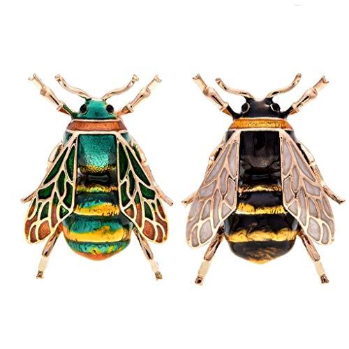 SODIAL Mode Natürliche Insekt Tier Emaille Broschen Biene Legierung Pins Vintage Schmuck Für Frauen, Biene
