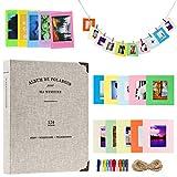 Cpano Coloré Bundle Set Accessoires pour Fujifilm Instax Mini caméra, pignon HP, Polaroid Zip, Snap, Snap Touch Films d'imprimante avec des Autocollants de Film, Album et Cadre (120 Poches, Gris)