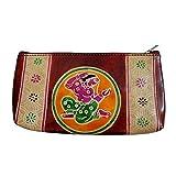 Creativei Women's Leather Pouch-Multicolour