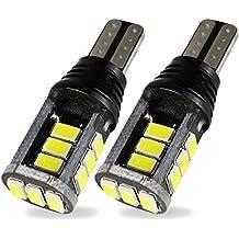 Safego 2x Bombillas LED T15 W16W 15SMD 5730 luz de Estacionamiento del Auto Luz Interior Coches Motos 12V Blanco 6000K