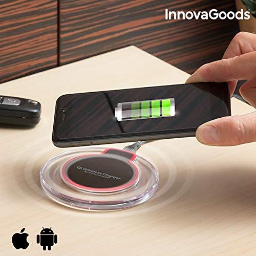 InnovaGoods IG813239 - Cargador inalámbrico Qi Smartphones