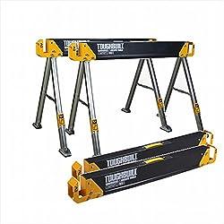 Toughbuilt C550 Lot de 2 tréteaux de travail/sciage - charge jusqu'à 1000 kg