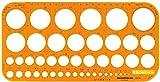 Rumold Kreisschablone 1-36mm Kunststoff orange/transparent