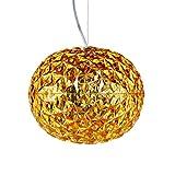Kartell Planet lampadario LED, Giallo Oro H 27cm, diametro 33cm