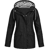 NTNY3 Rain Jacket Women Waterproof with Hood Lightweight Coats Ladies Long Sleeve Outdoor Active Raincoat Windbreaker…