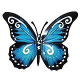 Pfronten Schmetterling Wandschmuck aus Metall metallicfarben Wetterfest 24cm