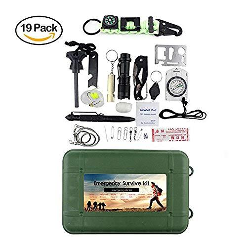 Kit de supervivencia multiherramienta, equipo profesional de ataque y defensa para ciclismo, senderismo, actividades al aire libre, adecuado para todas las situaciones