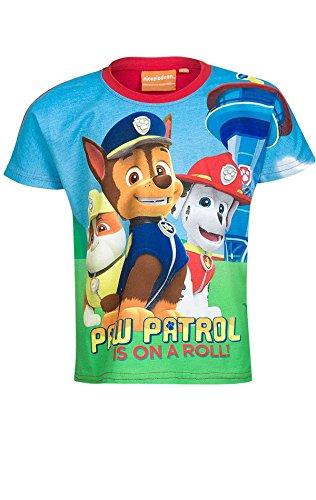 T-shirt ufficiale unisex paw patrol, per bambini da 3a 8anni red 962-157 5-6 anni