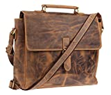 Green Burry Aktentasche mit extra Laptopfach Vintage brown