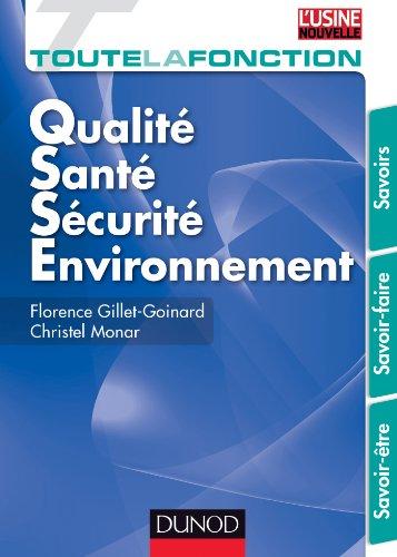 Toute la fonction QSSE (Qualité/ sécurité/ Environnement)