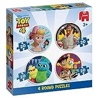 Jumbo 19751 Disney Pixar Toy Story 4-4 in 1 Round Puzzles