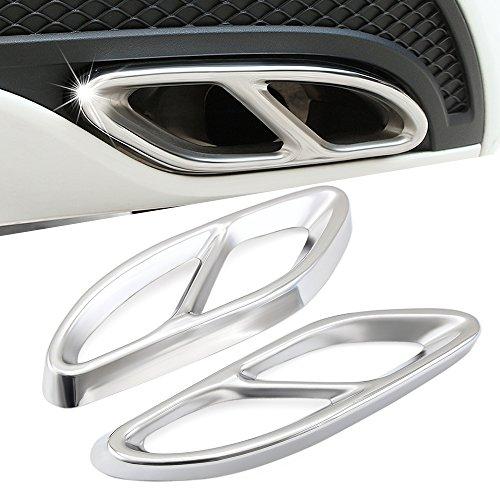 Preisvergleich Produktbild AMG Rohr Schwanz Throat Auto Zubehör AMG Auspuff Abdeckung Ausgänge Schwanz Rahmen Rand