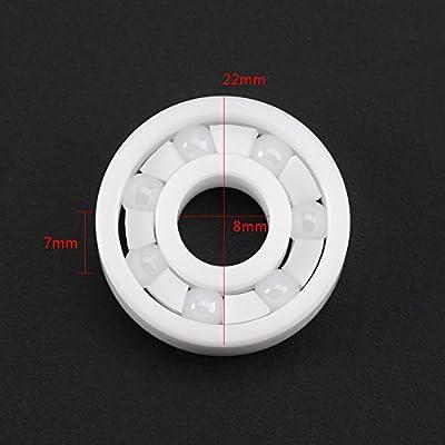 Weißes ZrO2 mini keramisches Kugellager 608 für Fingerspitzen-Spielzeug 8 * 22 * ??7mm