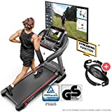 Sportstech F37 Professional Treadmill-German Quality Brand- Video Events & Mulitplayer APP, 7PS up to 20 km/h + lubrication system, HRC, large running surface, pulse belt worth £43, up to 150kg