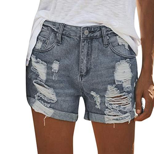 Ligesay pantaloni corti donna jeans vita alta pantaloncini corti donna jeans vita pantaloncini donna jeans vita alta corti strappati elasticizzati shorts donna jeans vita alta strappati elastico