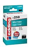 edding 18-259 Druckerpatrone EDD-259,2x black, Ersetzt:Brother LC980Bk/LC1100Bk, 2er Pack