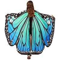 QinMM Frauen Schmetterlingsflügel Schal Schals, Damen Nymph Pixie Poncho Kostümzubehör