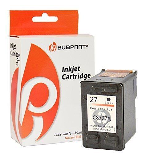 Bubprint Druckerpatrone kompatibel für HP 27 HP27 für Deskjet 3320 3325 3420 3520 3550 3650 5600 5650 Officejet 4300 4315 4355 PSC 1210 1310 Schwarz