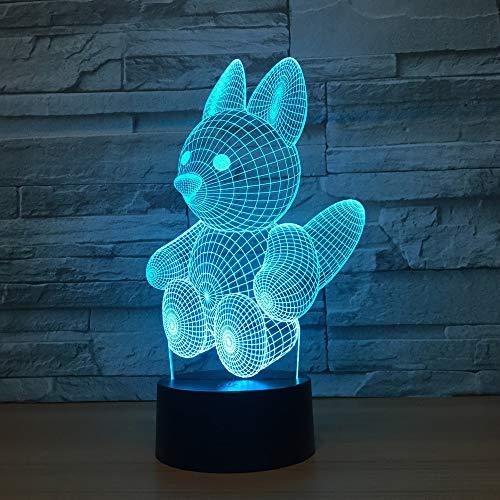 Bbdeng 3D-Nachtlicht Energie Sparen LED-Touch-Farbe Beleuchtung Kreative Kinder Schlafen Tischlampe USB Oder Batterie Puppe Remote control