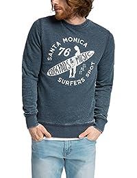 Esprit 046ee2j008-Printed-Slim Fit, Sweat-Shirt Homme