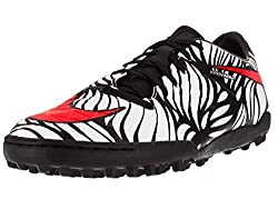 Nike Men s Hypervenom Phelon II Njr Tf Turf Soccer Shoe Black/Bright Crimson/White 9 D(M) US