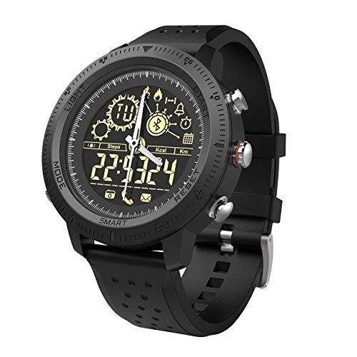 Smart Sports Watch, Digital Smart Orologi per Uomo Donna Outdoor Sports Bluetooth Smartwatch Calorie Pedometro Fitness Monitor Casual Wrist Band Tracker Orologio per Android/IOS (nero)