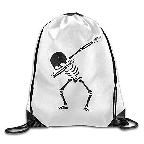 Jack16 Dabbing Skelett-Rucksack mit Kordelzug, für Damen und Herren